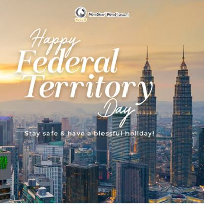 #Weco team wishes Happy Federal Territory Day to everyone who are staying and celebrating in Kuala Lumpur, Labuan and Putrajaya today! 🎉🎊🎆