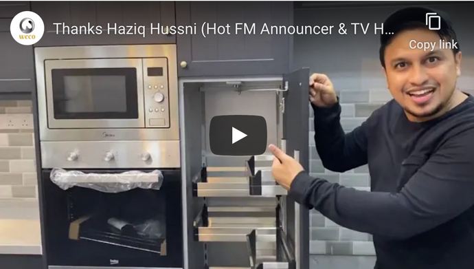 Thanks Haziq Hussni (Hot FM Announcer & TV Host) for the video sharing on WecoCabinet!