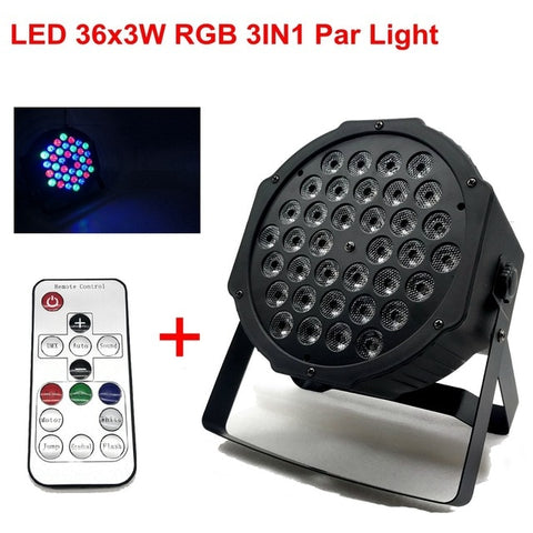 LED Par Lights 36x3W DJ LED RGBW Par Lights RGB Wash Disco Light DMX Controller Effect For Small Paty KTV Stage Lighting