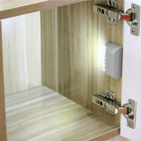 LED Light Sensor Night Lamp Inner Hinge Cabinet Wardrobe Drawer Battery Powered