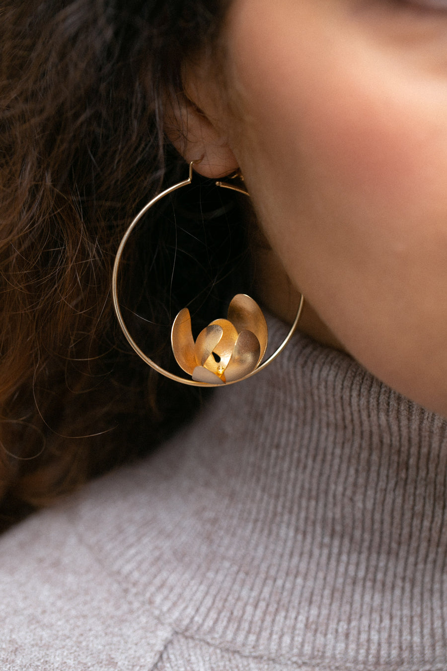 FRIDA EARRINGS NENU LOW gold
