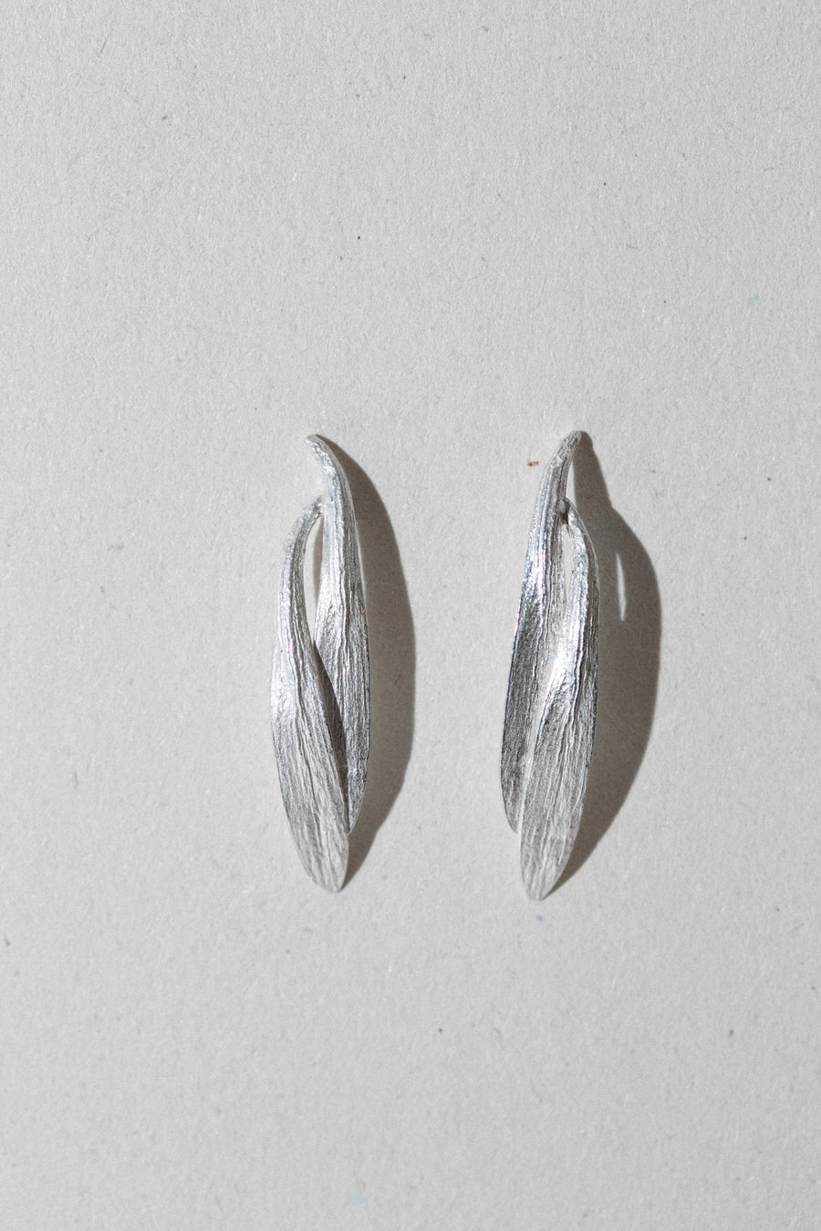 JESION STUDS DOUBLE LEAF silver