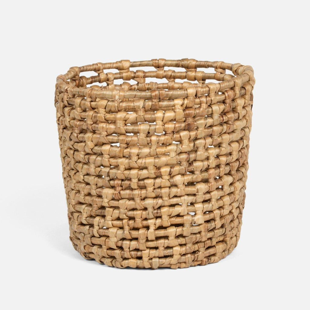 Pigeon and Poodle Astoria Natural Woven Water Hyacinth Round Basket