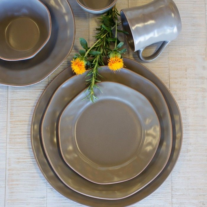 Cantaria Dinnerware, Charcoal