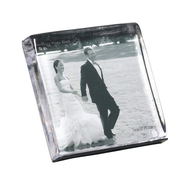Woodbury Square Block Photo Frame in Gift Box