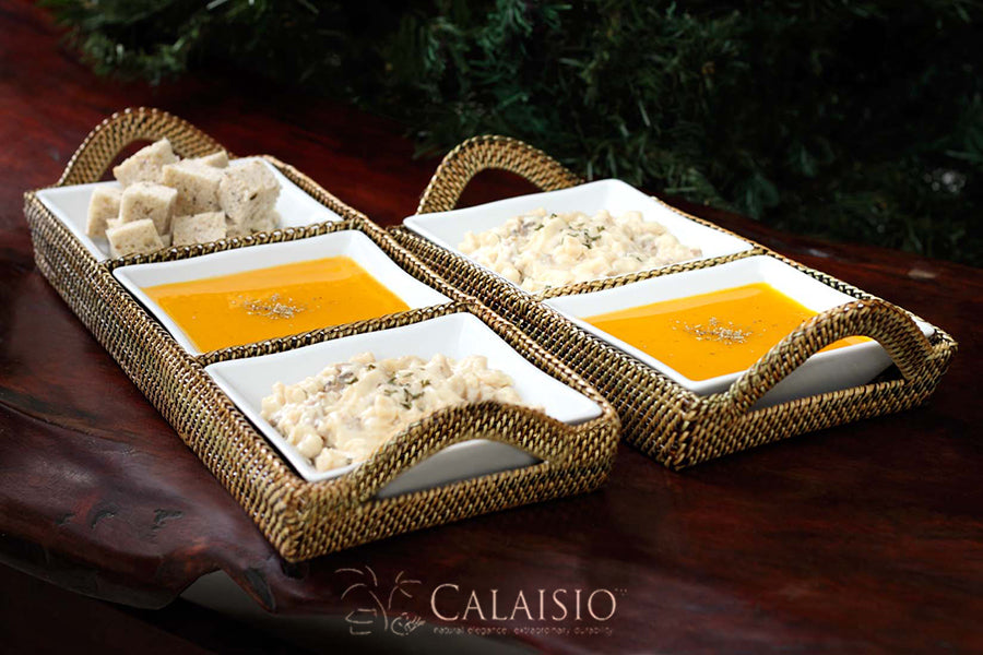 Calaisio Rectangular Tray with Pillivuyt Dishes