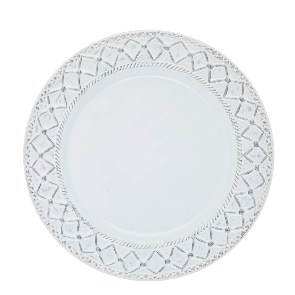 Alegria Dinnerware, Simply White with Silver