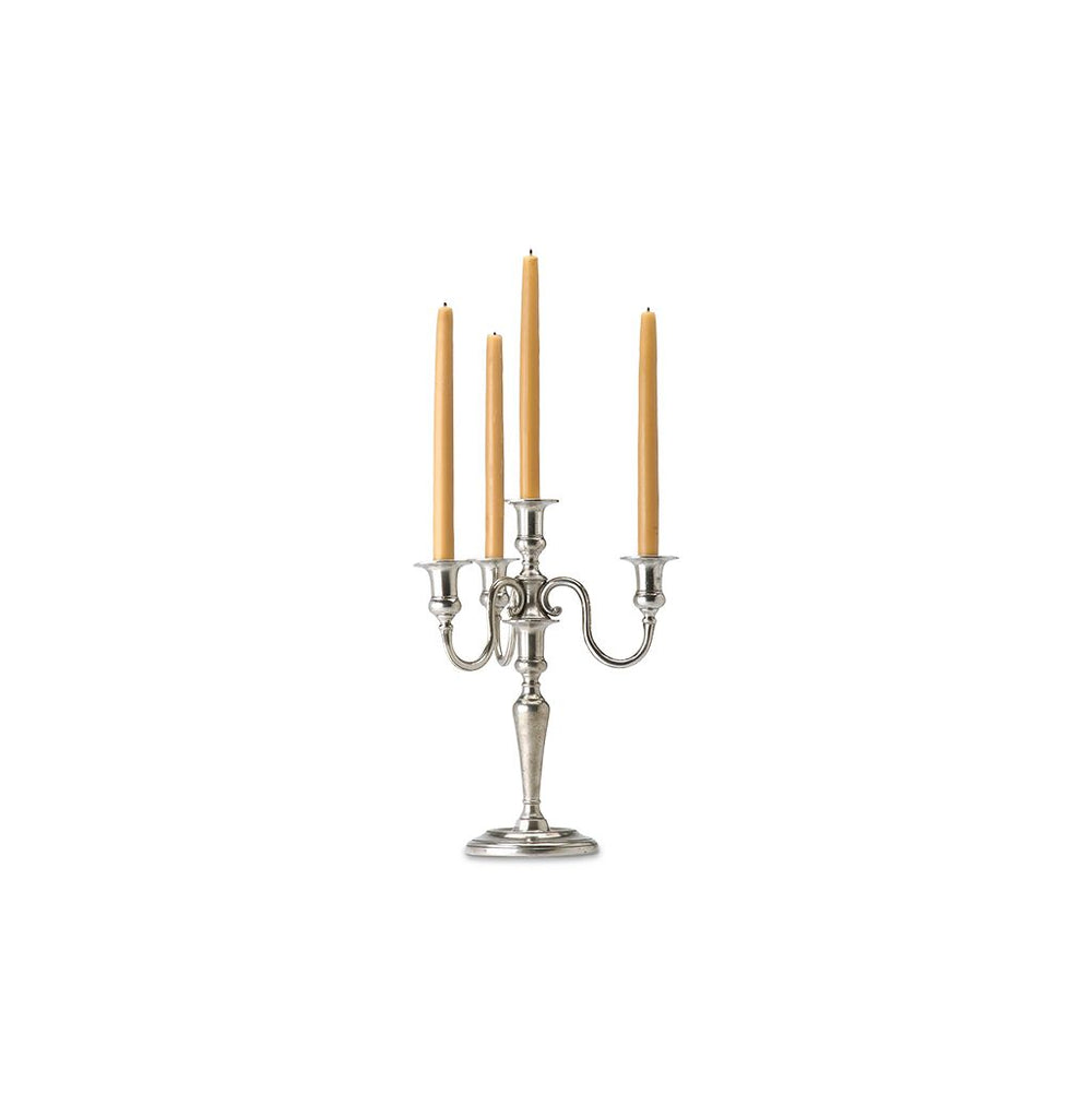 Match Pewter 4 Flame Candelabra