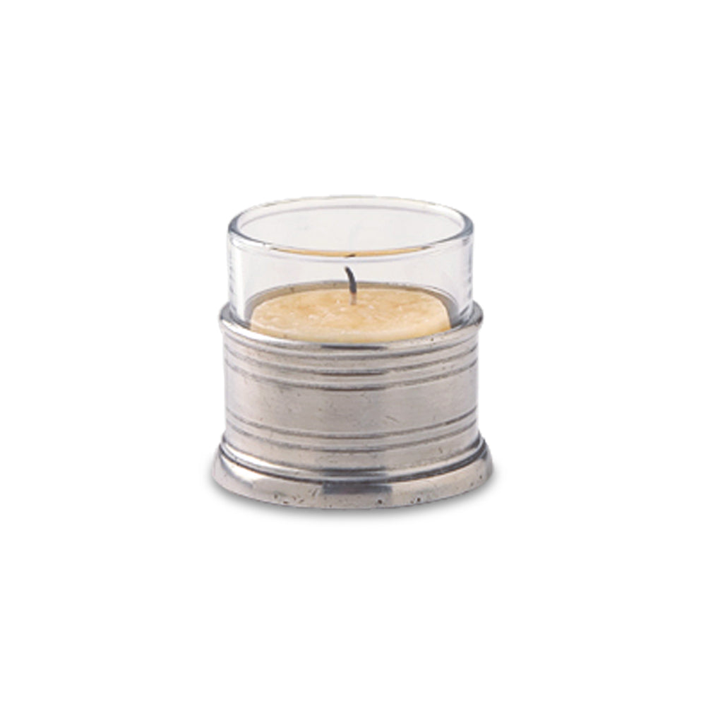 Match Pewter Tea Light Candle Holder with Glass
