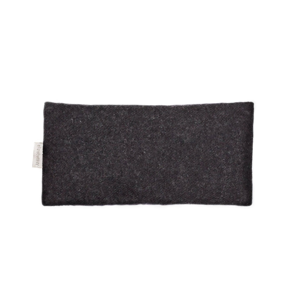 Wool Eye Pillow with Flax Seed and Lavender - Charcoal Gray