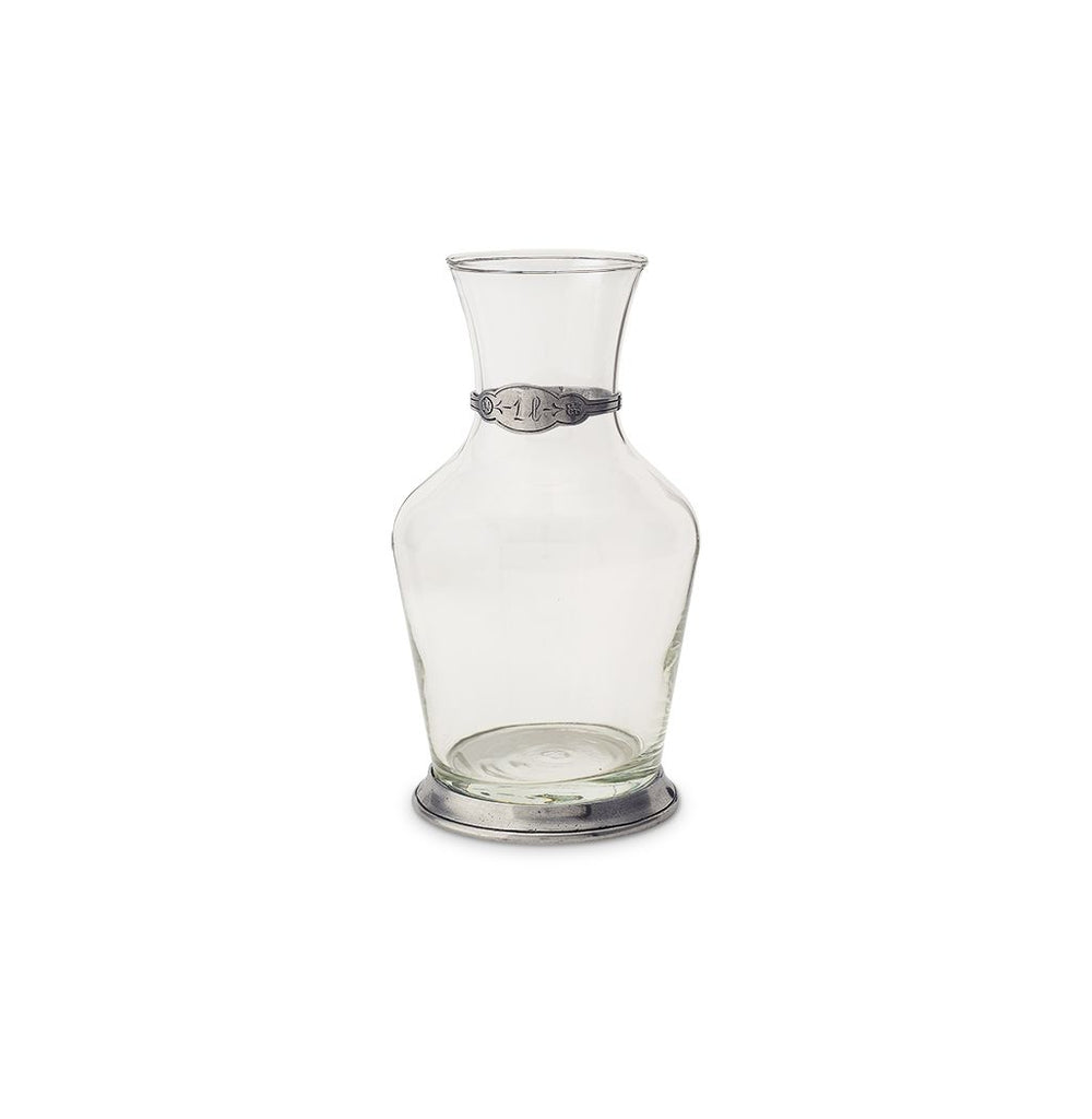 Glass Carafe with Pewter Detail