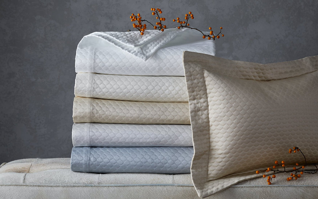 Pearl Matelassé Bedding Collection