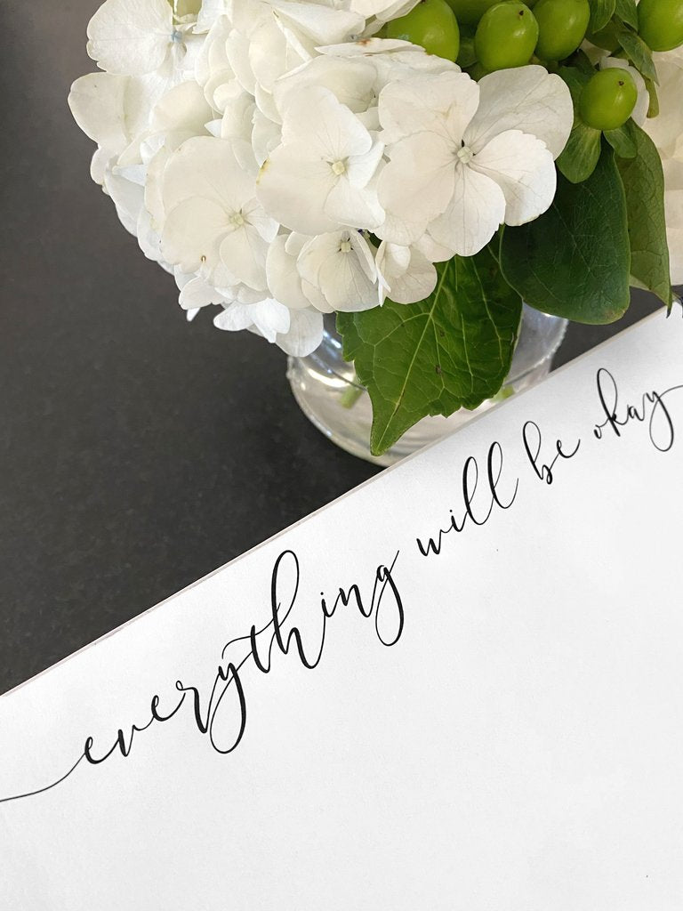 Everything Will Be Okay Luxe Expressions Notepad