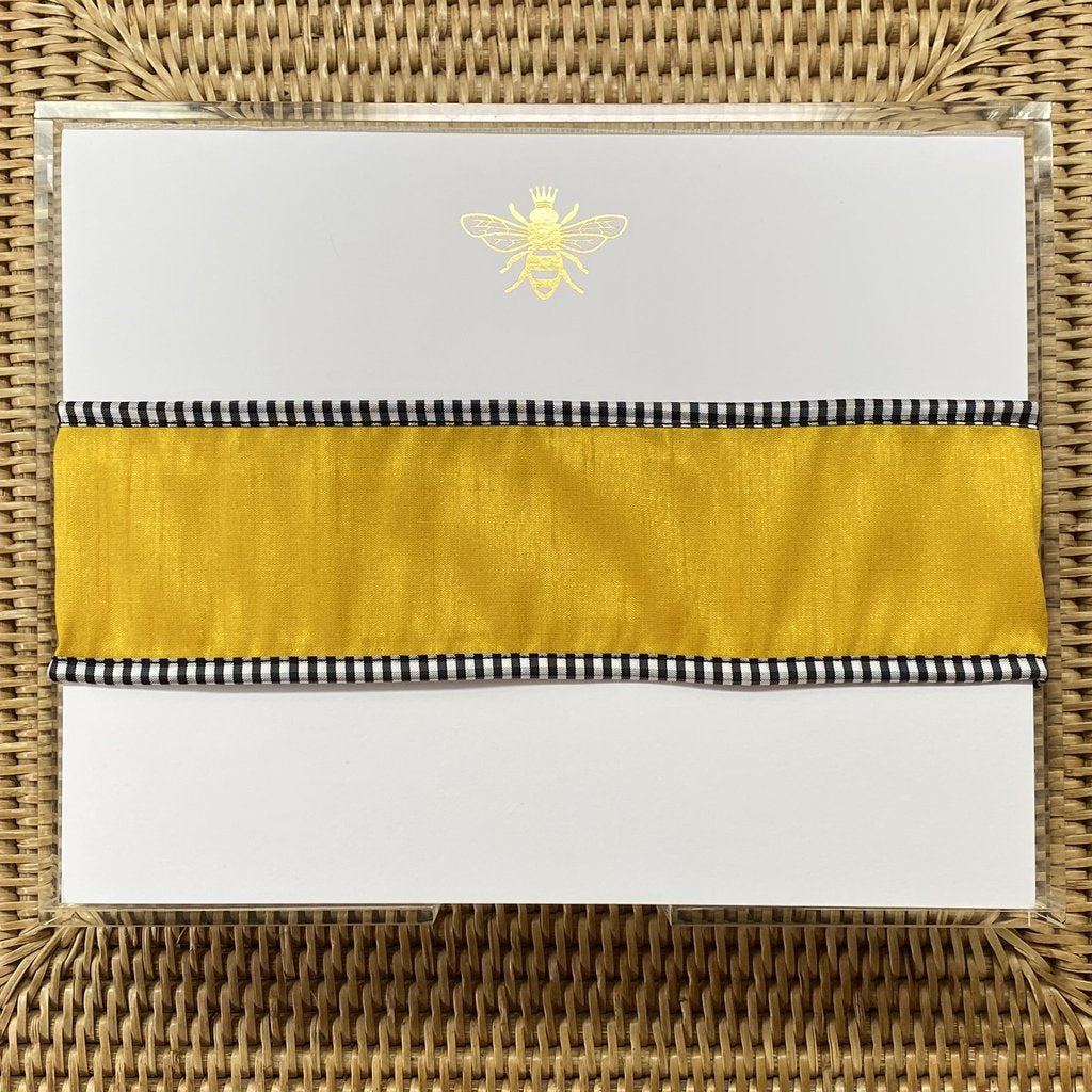Gold Foil Bee Luxe Notepad