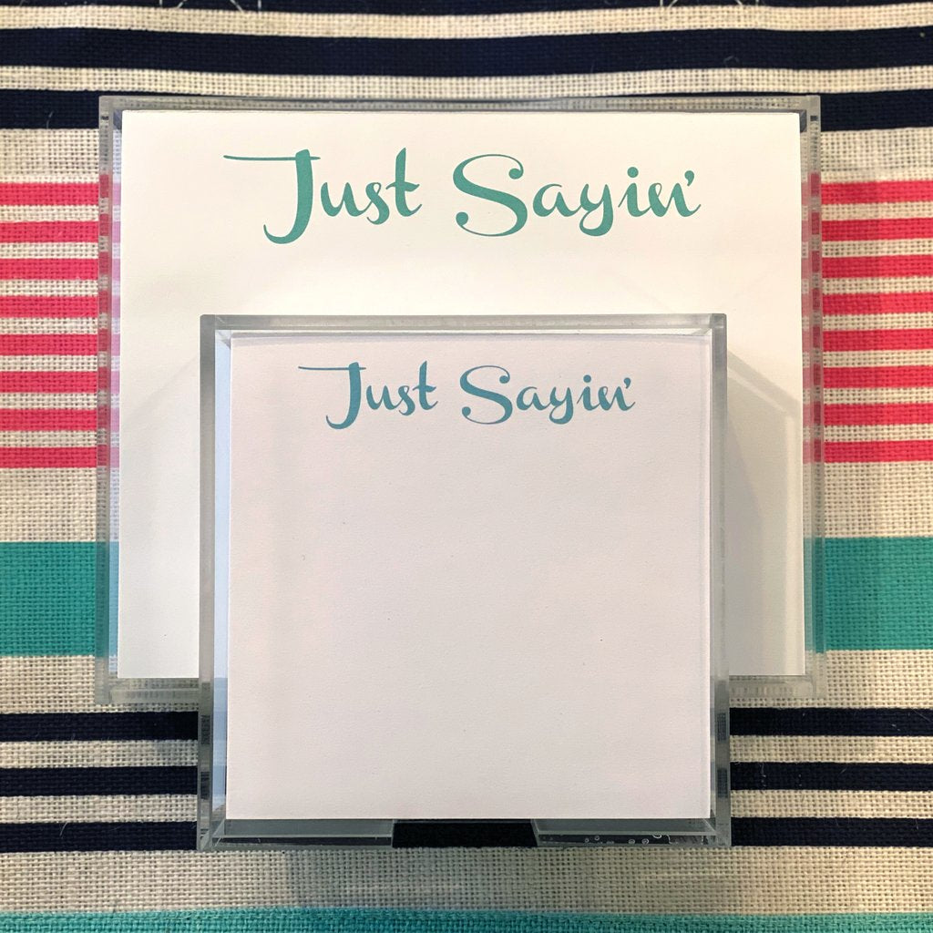 Just Sayin' Paddie Expressions Notepad