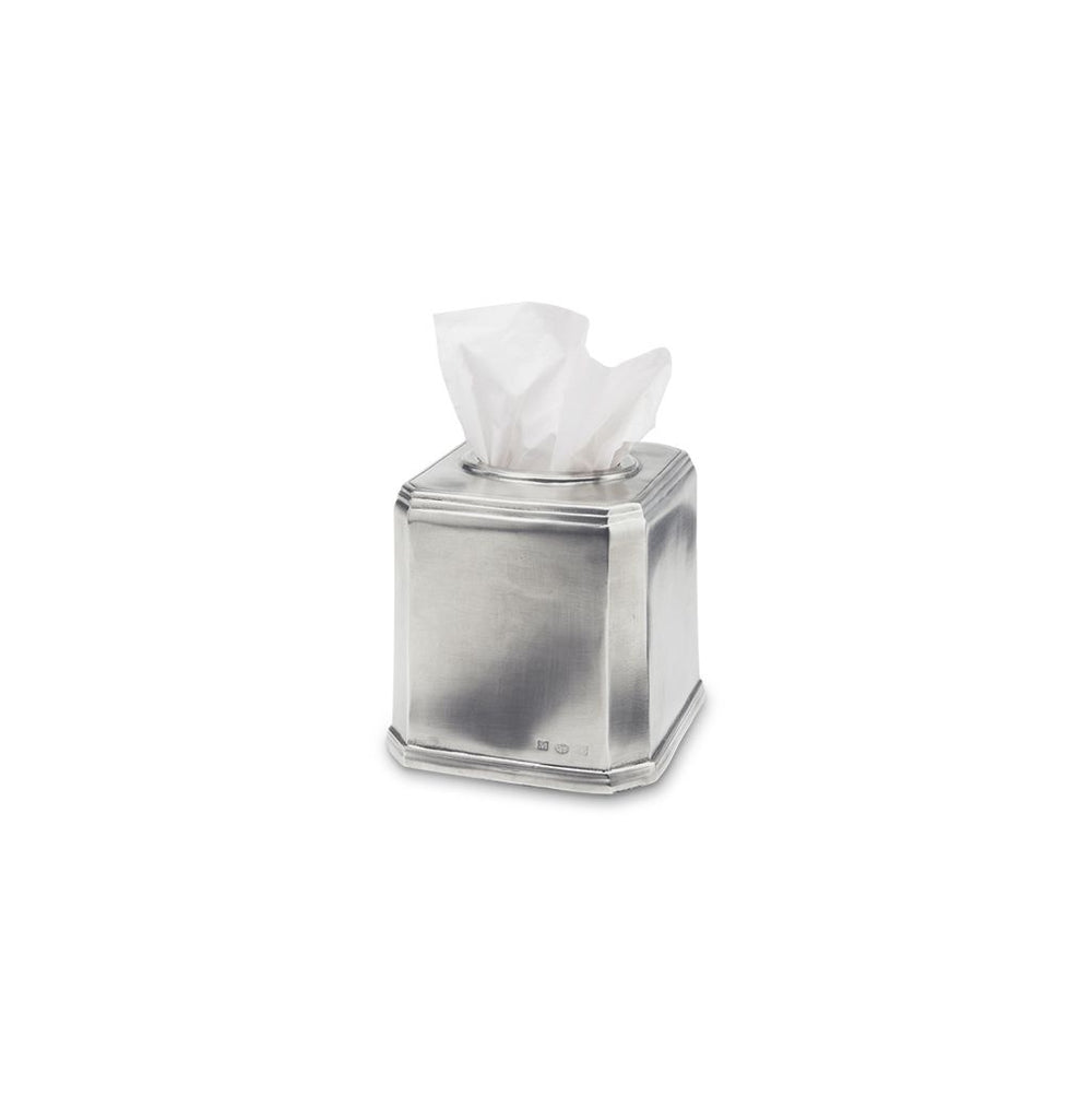Match Pewter Dolomiti Square Tissue Box Cover