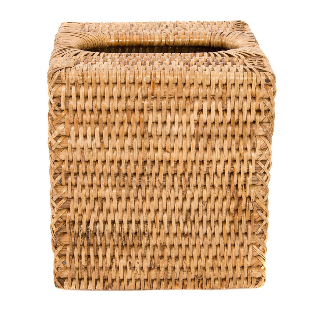 Artifacts Trading Company Rattan Column Tissue Box Cover
