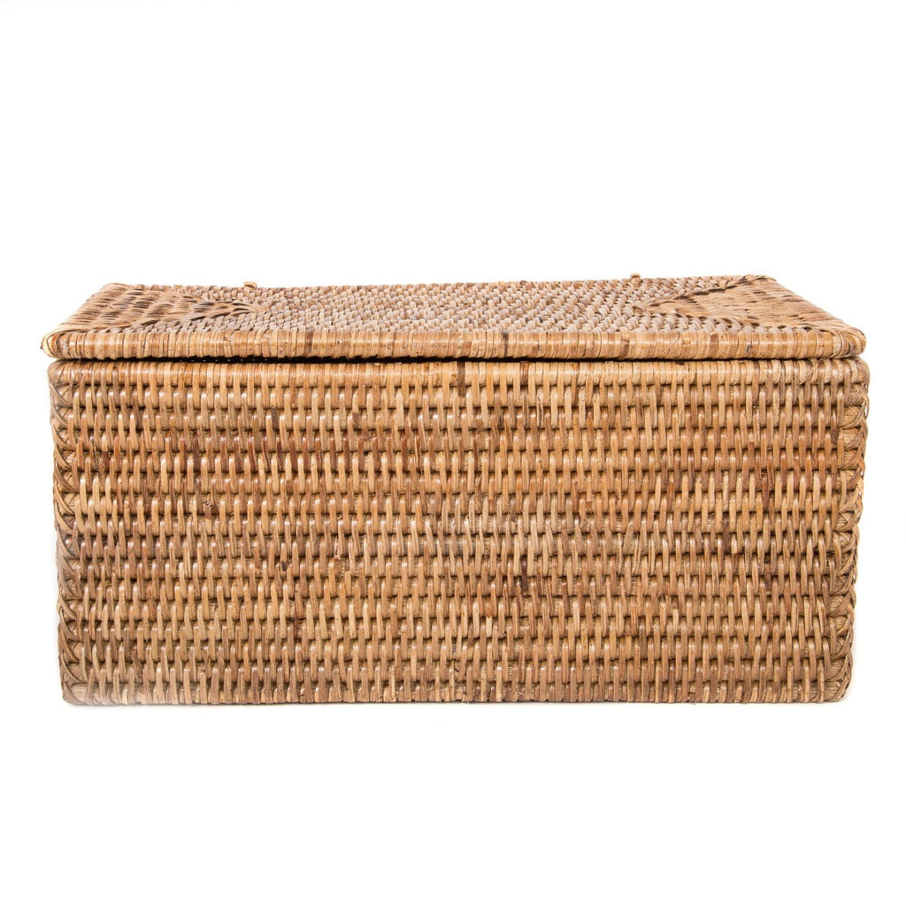 Artifacts Trading Company Rattan Rectangular Double Toilet Paper Roll Holder