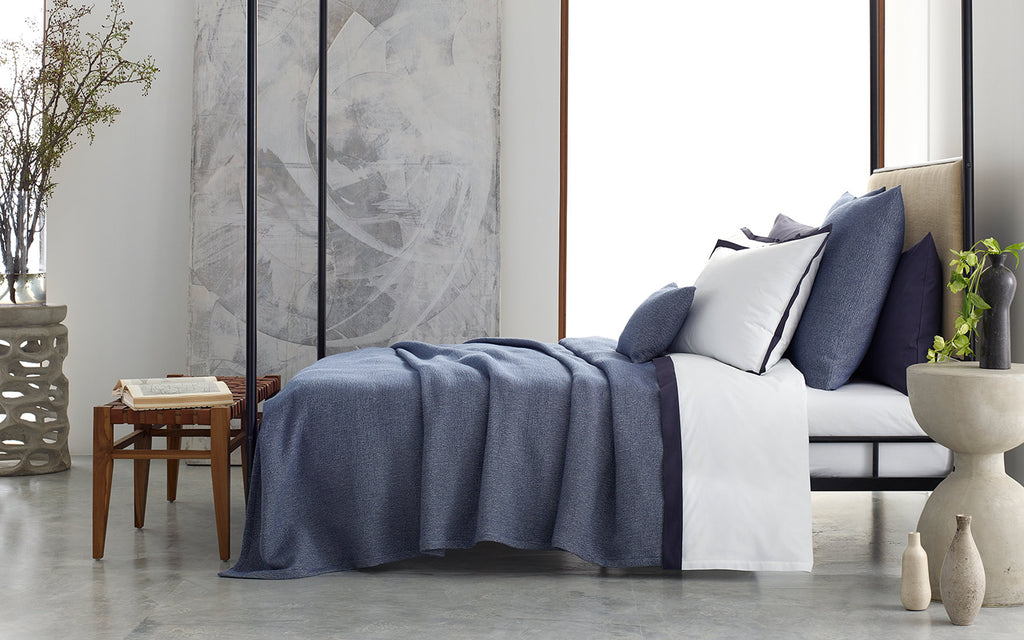 Matouk Pacific Stonewashed Bedding Collection