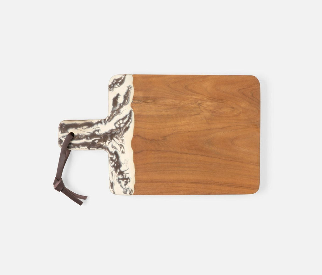 Austin Brown Swirled Teak Serving Board