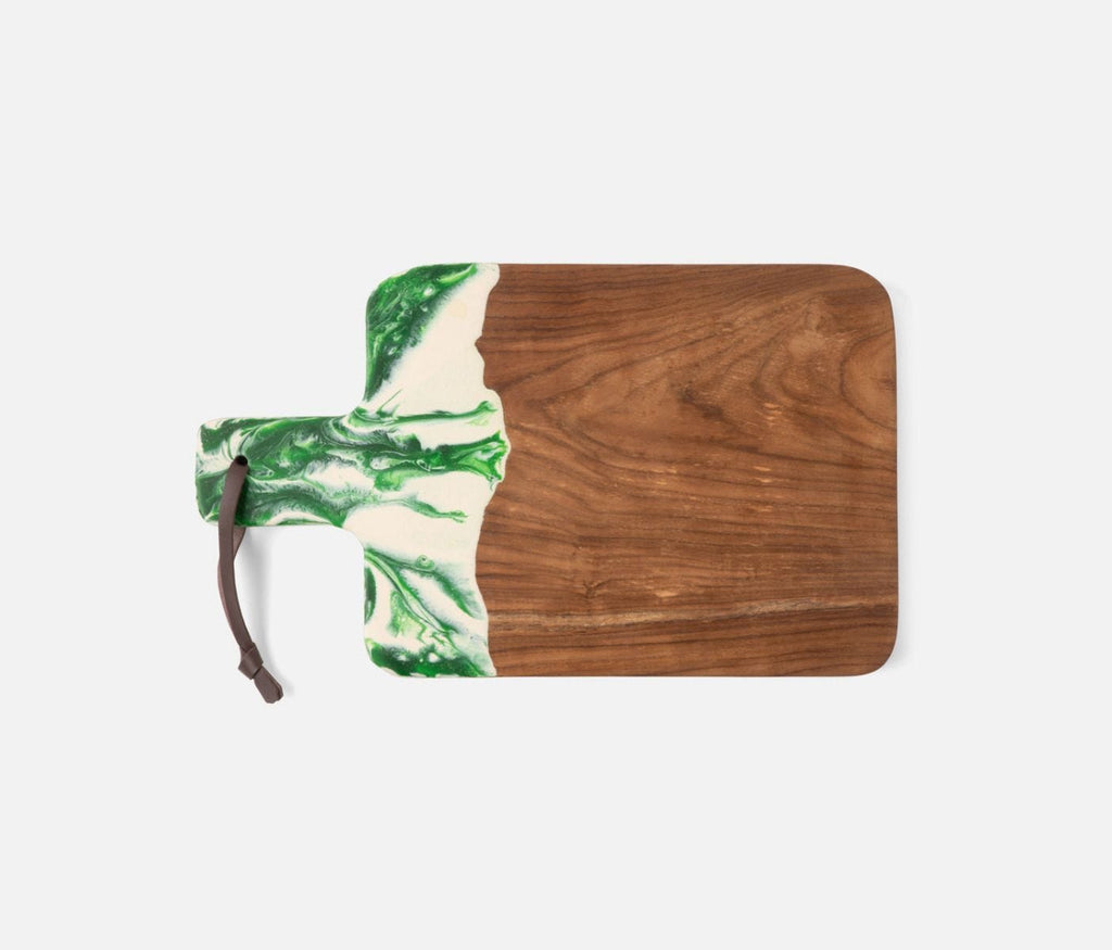 Austin Green Swirled Teak Serving Board