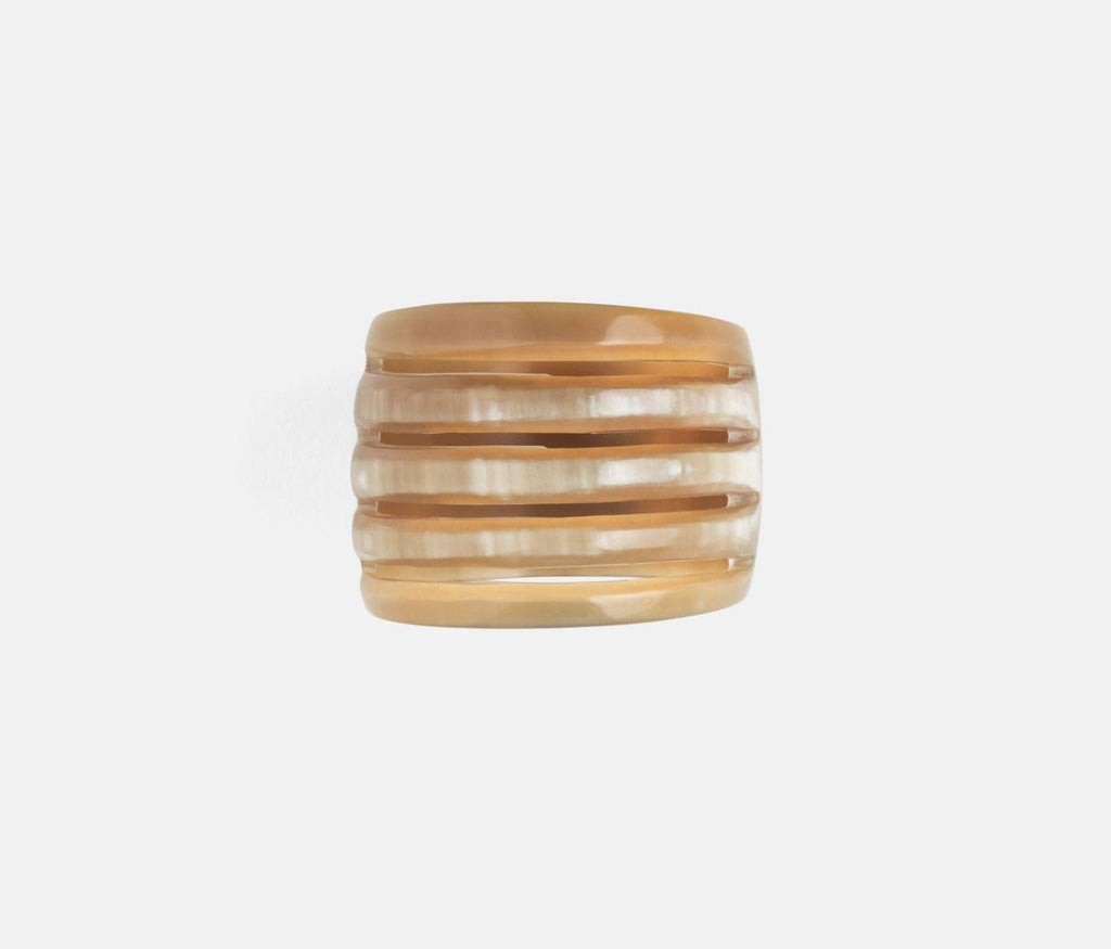 Azure Natural Horn Napkin Ring Set