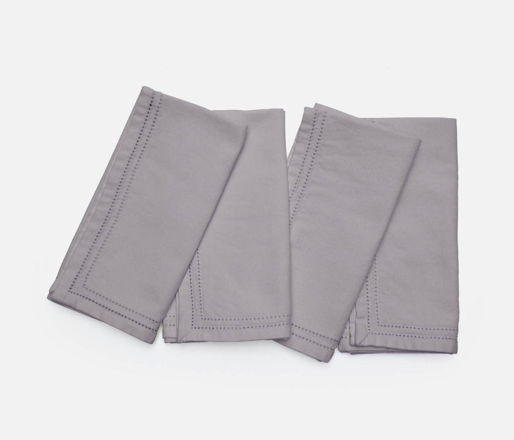 Betty Steel Gray Cotton Napkin Set