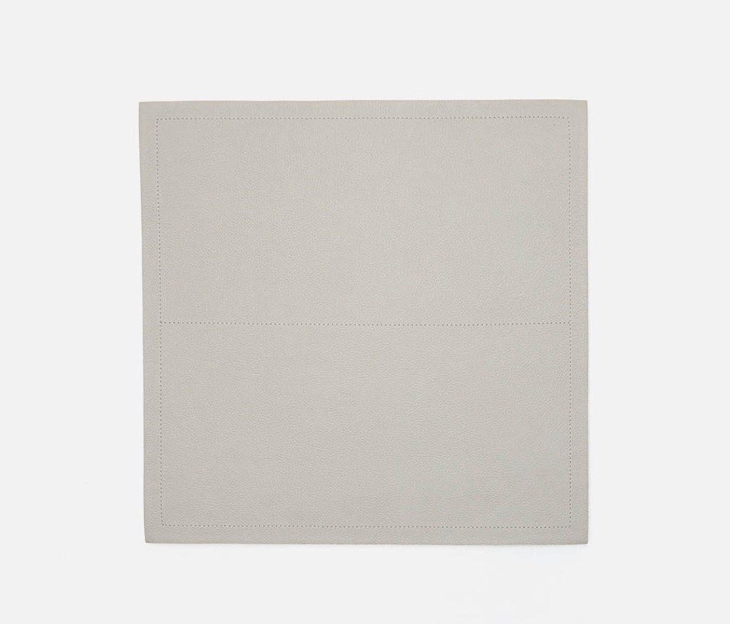 Evan Light Gray Leather Placemat