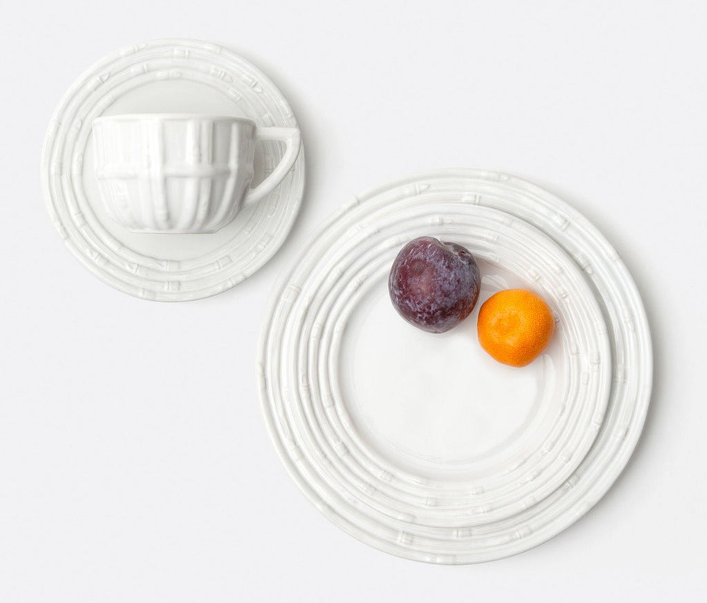 Gia White Bamboo Dinnerware Collection