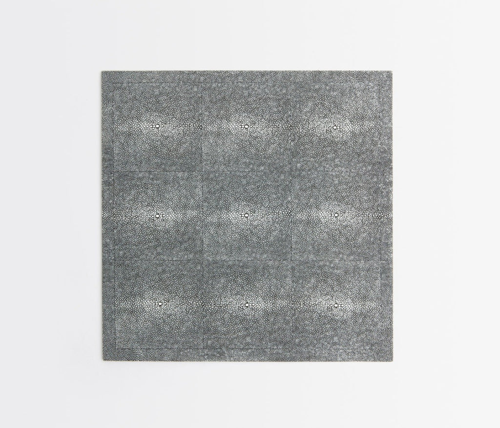 Henry Faux Shagreen Placemat in Cool Gray