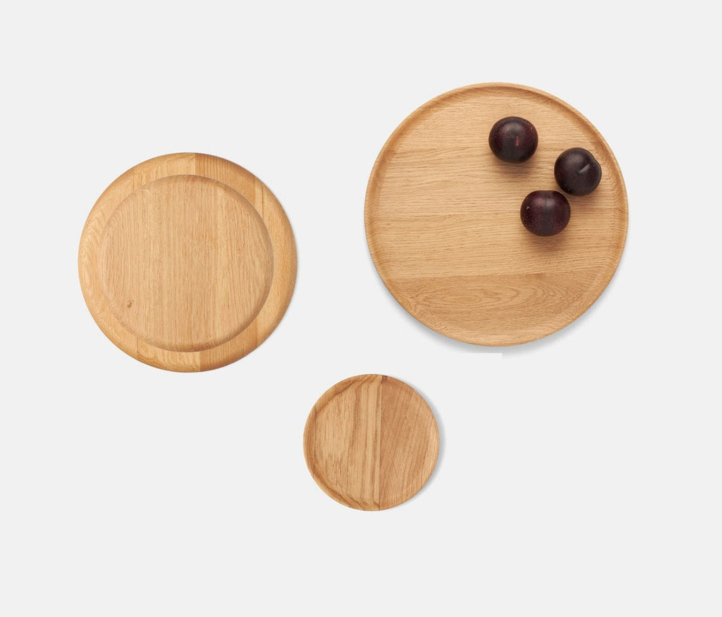Kennedy Oak Wood Dinnerware Collection