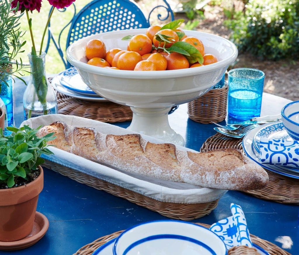 Blue Pheasant Lasata Set of 2 Oblong Trays with Liner by Mark D. Sikes