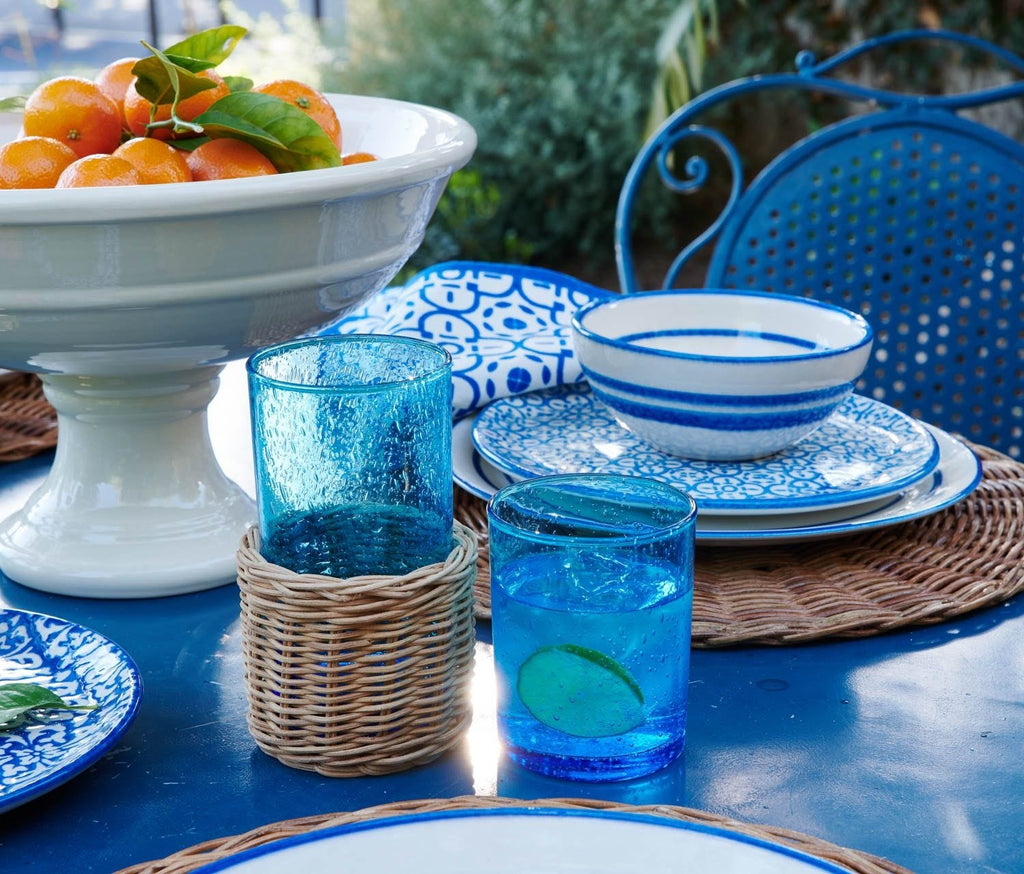Azul Glass and Rattan Collection by Mark D. Sikes