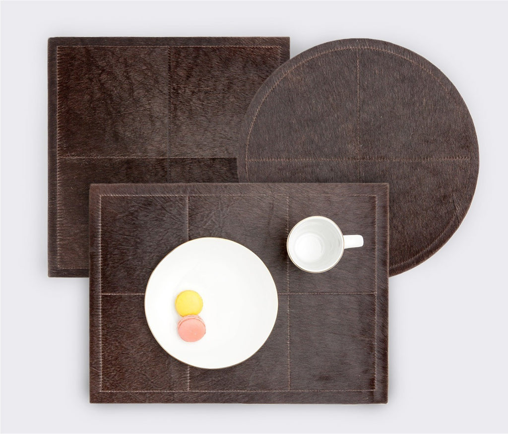 Tanner Hide Placemat in Dark Brown