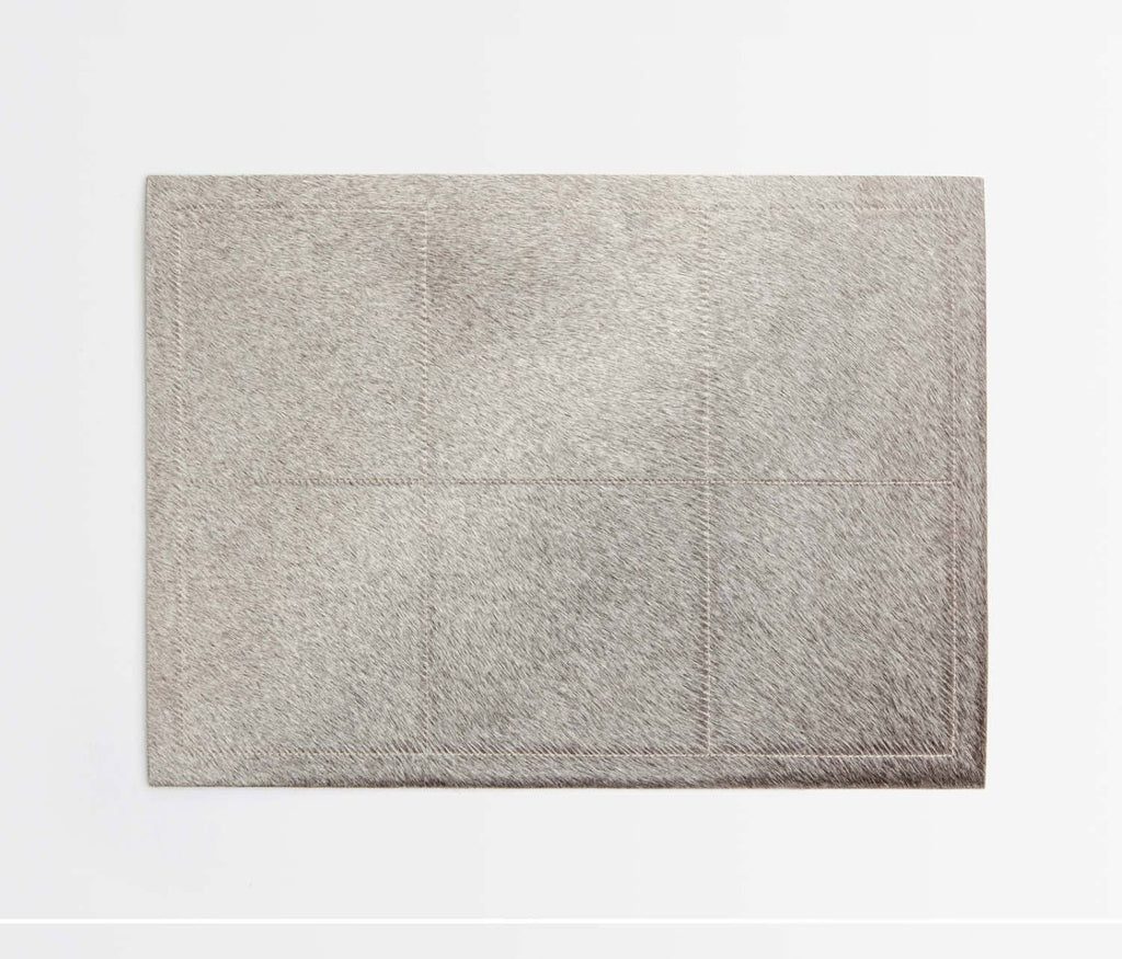 Tanner Hide Placemat in Gray