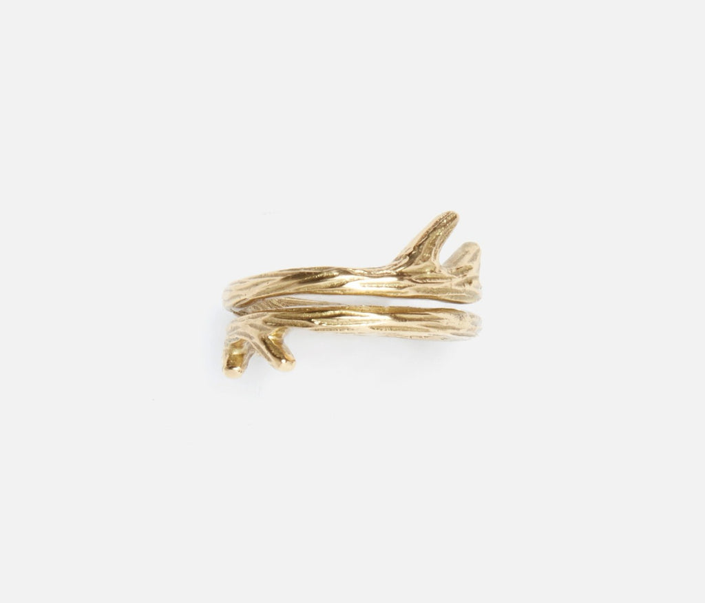 Tara Set of 4 Napkin Rings in gold