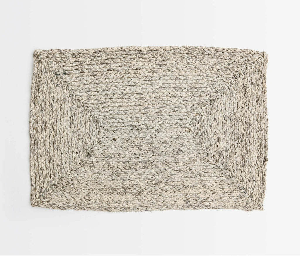 Zoey Raffia Placemat in Mixed Grey