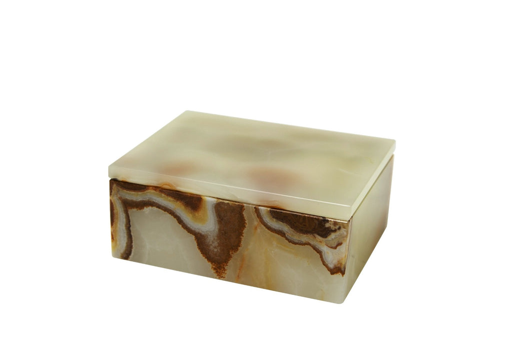 Marble Crafter Asteria Light Green Onyx Rectangular Keepsake Box