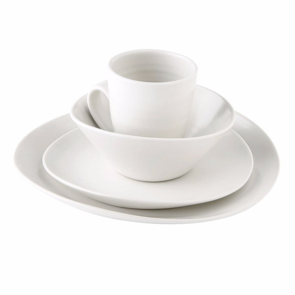 Simon Pearce Barre Alabaster Dinnerware - 4 piece cereal bowl place setting.
