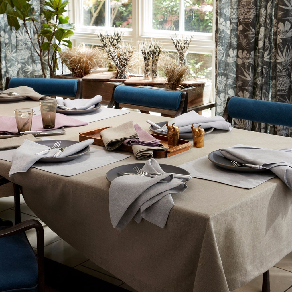 Matouk Chamant Belgian Linen Blend Easy care Napkins, Tablecloths, and Placemats