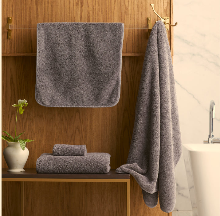Scandia Home Indulgence Bath Towels in Charcoal