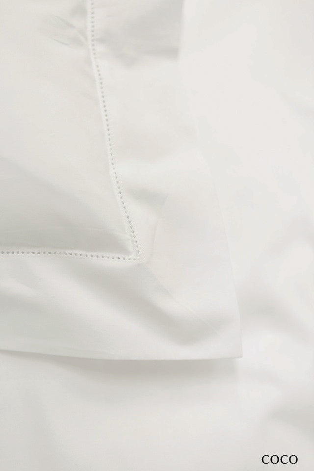The Picket Fence Coco Hemstitched Percale Private Label Sheeting Collection
