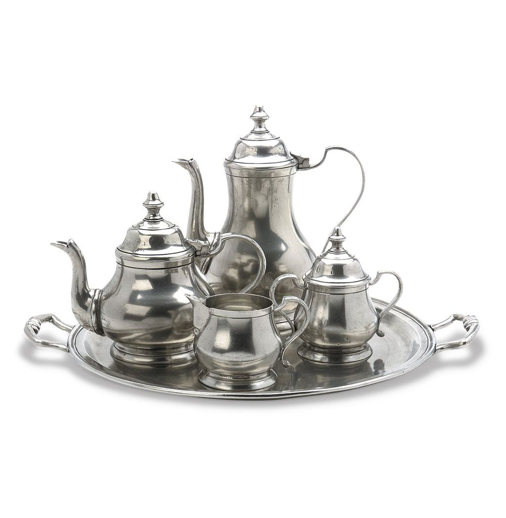 Match Pewter Coffee and Tea Set Collection