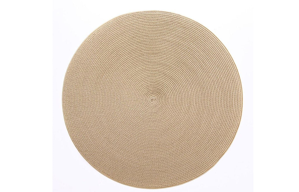 Linen Braided Placemat - Cream/Dust
