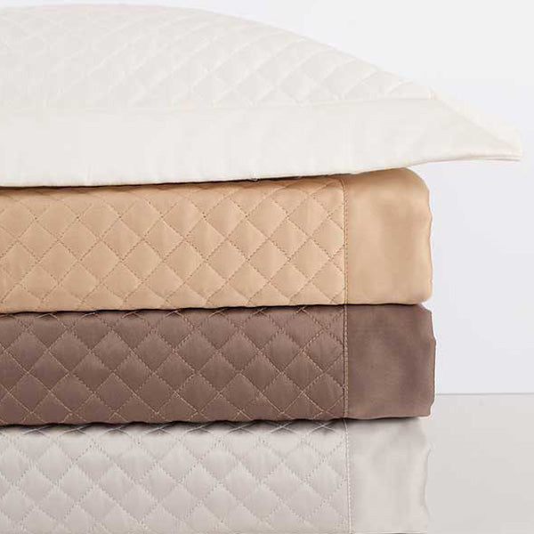 Diamond Quilted Coverlet and Shams