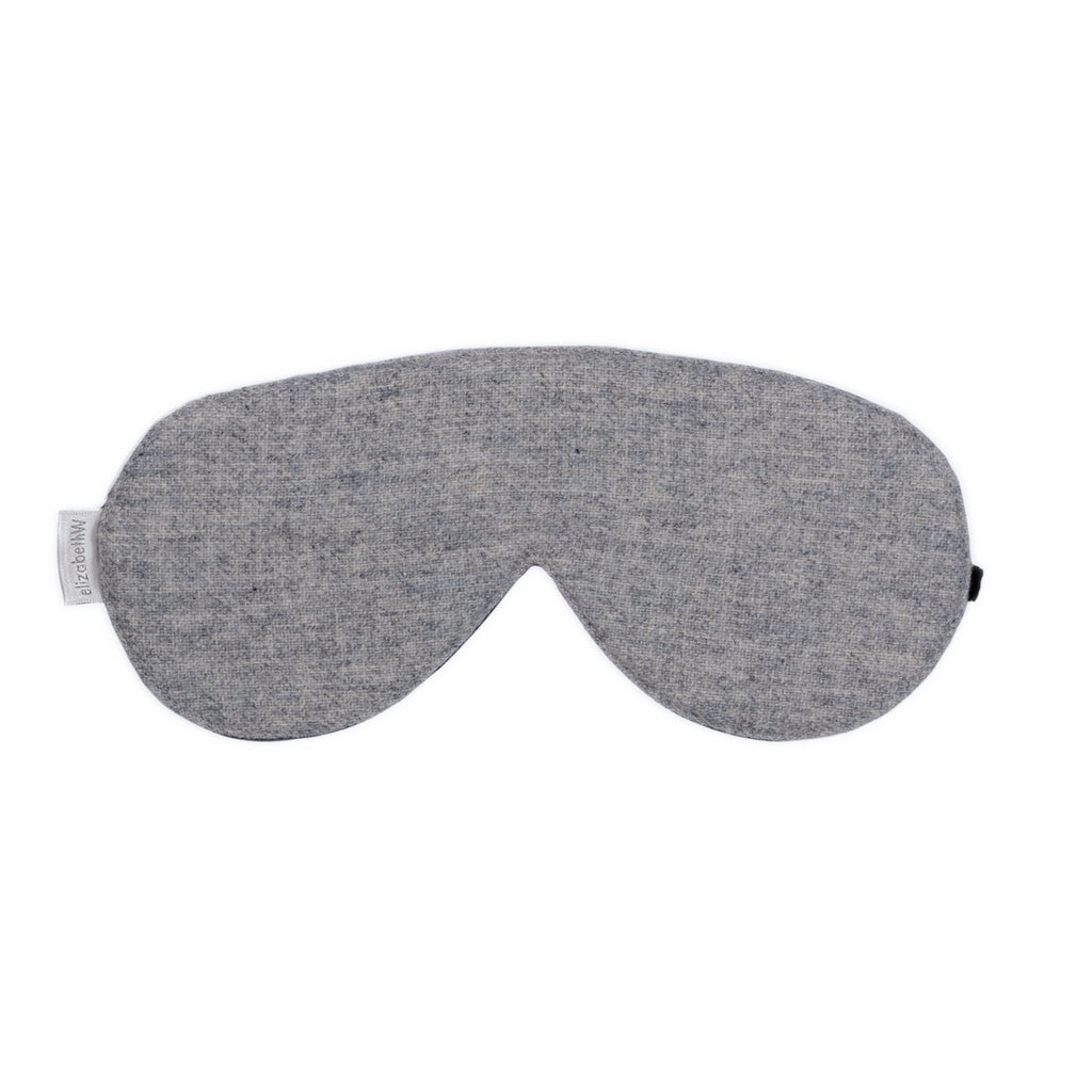 elizabeth W Wool Sleep Mask - Heather Gray