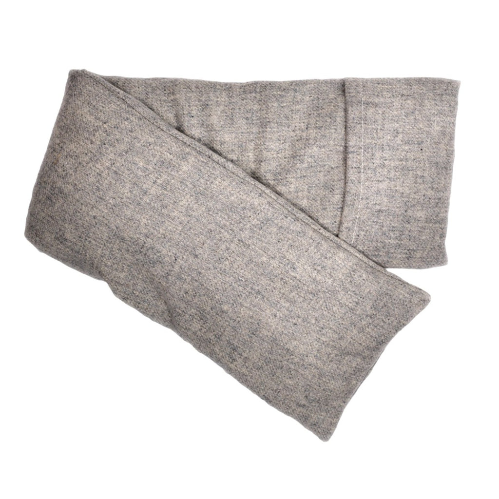 Wool Hot/Cold Flaxseed Pack - Heather Gray