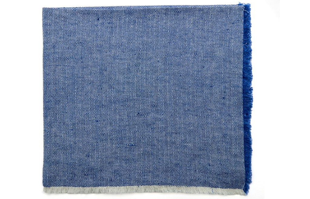 Herringbone Fringe Napkin in Royal