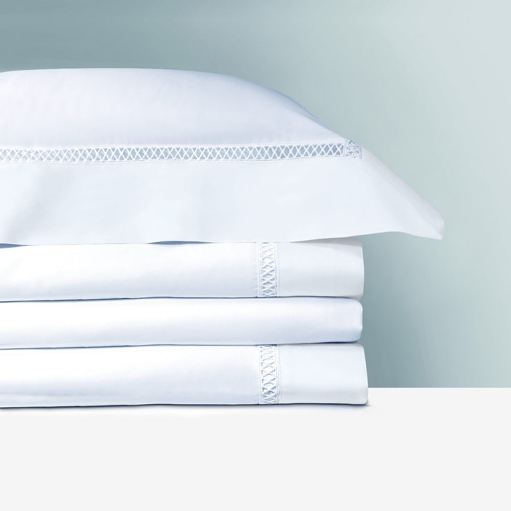 Yves Delorme's Walton Bedding Collection Blanc White