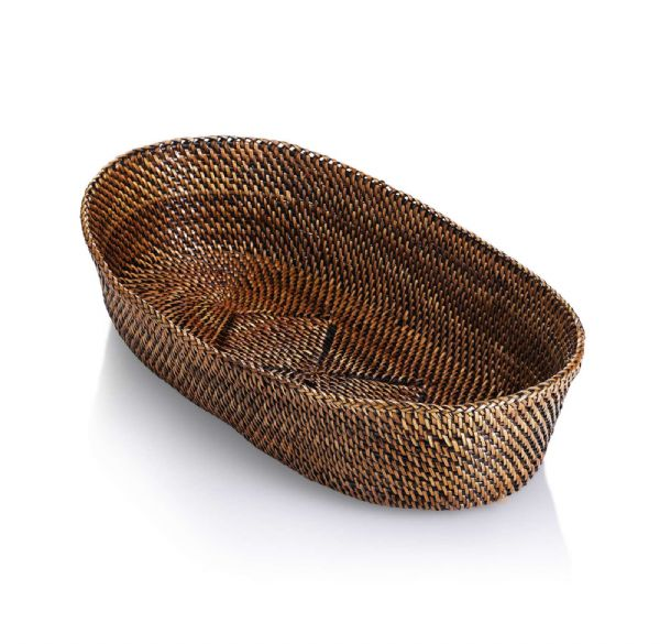 Calaisio Oval Bread Basket with Edging